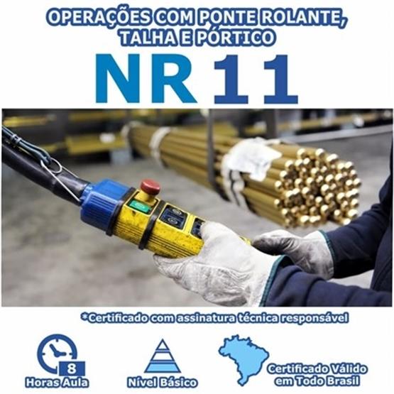 Curso NR 11 - Segurança nas Operações com Ponte Rolante, Talha e Pórtico Básico