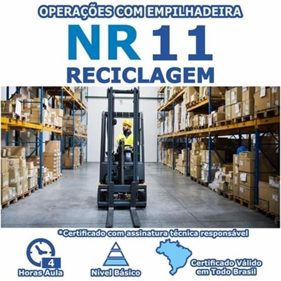 Curso Reciclagem NR 11 - Operações com Empilhadeira