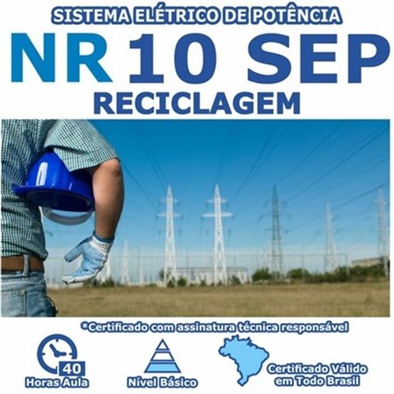 Curso NR 10 Reciclagem SEP –  Sistema Elétrico de Potência Básico