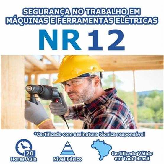Curso NR 12 - Segurança no Trabalho em Máquinas e Ferramentas Elétricas Básico