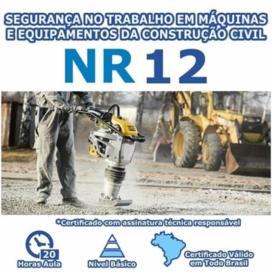 Curso NR 12 - Segurança no Trabalho em Máquinas e Equipamentos da Construção Civil Básico