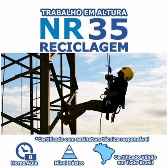 Curso NR 35 Reciclagem - Trabalho em Altura
