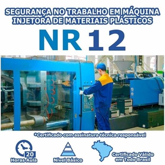 Curso NR 12 - Segurança no Trabalho em Máquina Injetora De Materiais Plásticos Básico