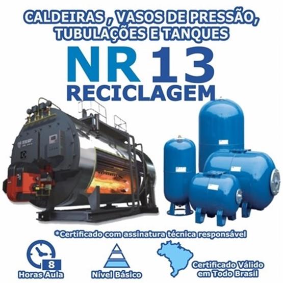 Curso NR 13 Reciclagem – Caldeiras, Vasos de Pressão, Tubulações e Tanques Básico