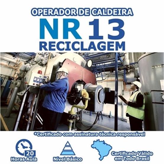 Curso NR 13 Reciclagem - Operador de Caldeira