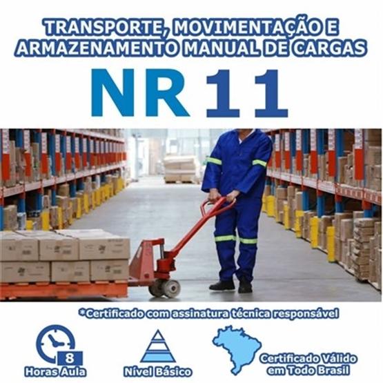 Curso NR 11 – Transporte, Movimentação e Armazenamento Manual de Cargas Básico
