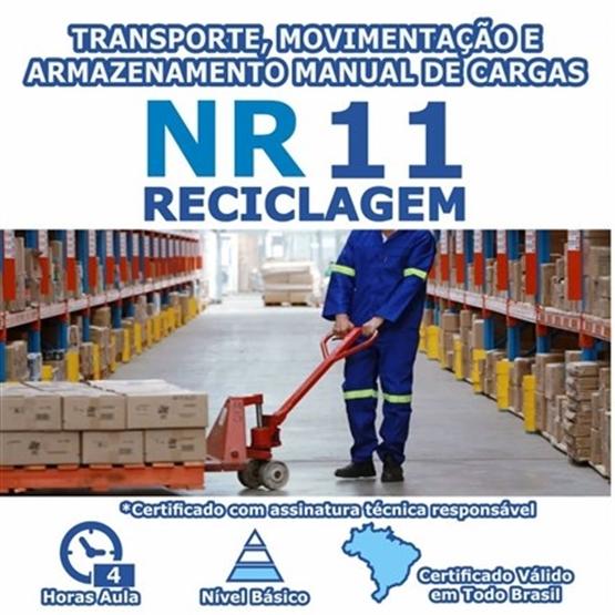 Curso Reciclagem NR 11 – Transporte, Movimentação e Armazenamento Manual de Cargas