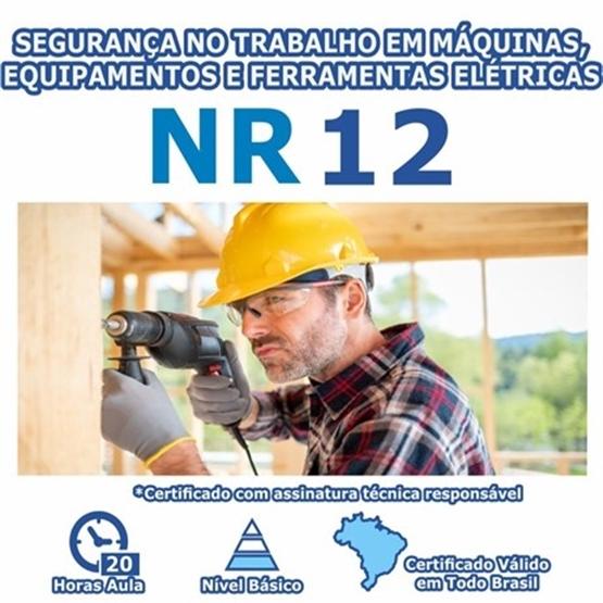 Curso NR 12 - Segurança no Trabalho em Máquinas, Equipamentos e Ferramentas Elétricas Básico