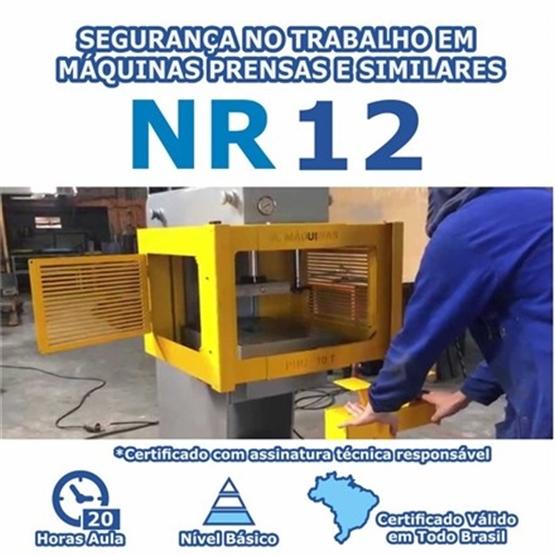 Curso NR 12 - Segurança no Trabalho em Máquinas Prensas e Similares Básico