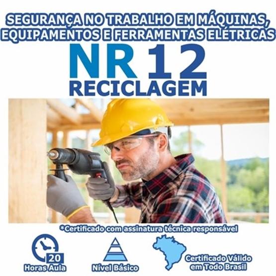 Curso NR 12 Reciclagem - Segurança no Trabalho em Máquinas, Equipamentos e Ferramentas Elétricas