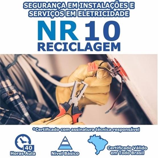 Curso NR 10 Reciclagem - Segurança em Instalações e Serviços em Eletricidade Básico